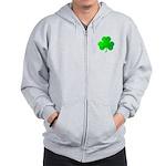 Bright Green Shamrock Zip Hoodie