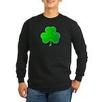 Bright Green Shamrock Long Sleeve Dark T-Shirt