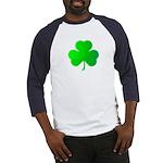 Bright Green Shamrock Baseball Jersey