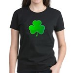Bright Green Shamrock Women's Dark T-Shirt
