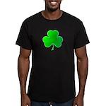 Bright Green Shamrock Men's Fitted T-Shirt (dark)