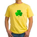 Bright Green Shamrock Yellow T-Shirt
