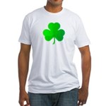 Bright Green Shamrock Fitted T-Shirt