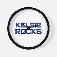 kelsie rocks Wall Clock