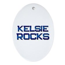 kelsie rocks Oval Ornament