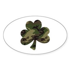 Camo Shamrock Oval Decal