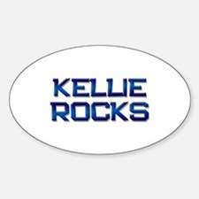 kellie rocks Oval Decal