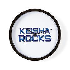 keisha rocks Wall Clock