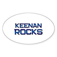 keenan rocks Oval Decal