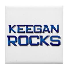 keegan rocks Tile Coaster