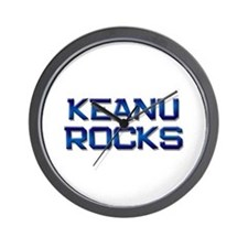 keanu rocks Wall Clock
