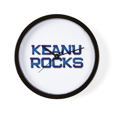 keanu rocks Wall Clock
