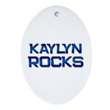 kaylyn rocks Oval Ornament