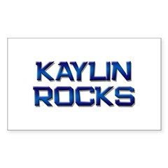 kaylin rocks Rectangle Decal