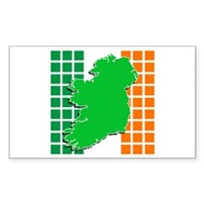 irish flag ireland Rectangle Decal