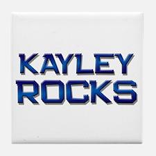 kayley rocks Tile Coaster