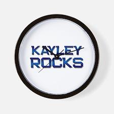 kayley rocks Wall Clock