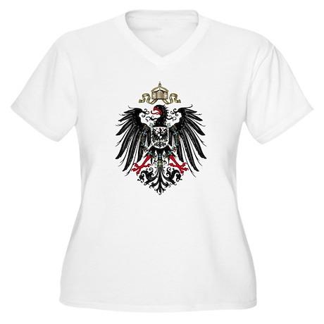 German Empire Women's Plus Size V-Neck T-Shirt