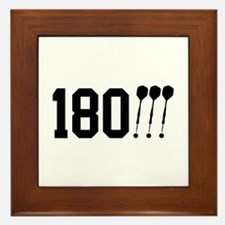 180 Darts!!! Framed Tile