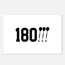 180 Darts!!! Postcards (Package of 8)