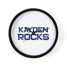 kayden rocks Wall Clock