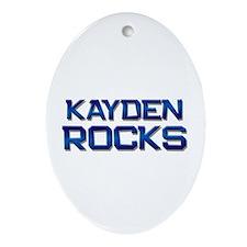 kayden rocks Oval Ornament