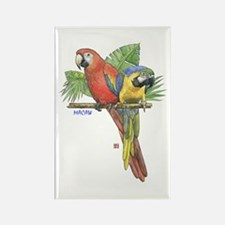 Tropical Macaws Rectangle Magnet