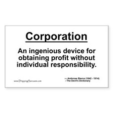 Corporation: profit without... Rectangle Decal