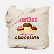 Funny Chocolate Flute Tote Bag