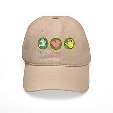 Peace Love Garden Baseball Cap