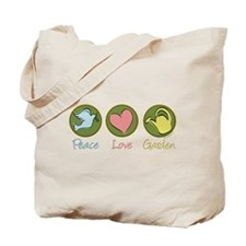 Peace Love Garden Tote Bag