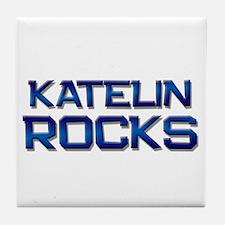 katelin rocks Tile Coaster
