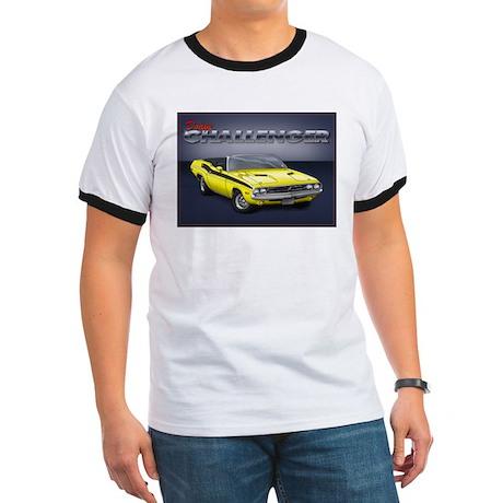 Yellow Dodge Challenger Ringer T