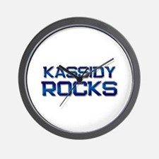 kassidy rocks Wall Clock