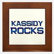 kassidy rocks Framed Tile