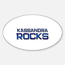 kassandra rocks Oval Decal