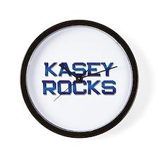 kasey rocks Wall Clock