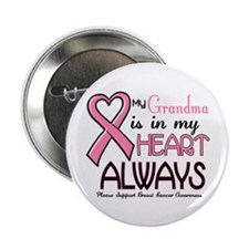 "In My Heart 2 (Grandma) PINK 2.25"" Button"
