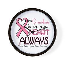 In My Heart 2 (Grandma) PINK Wall Clock