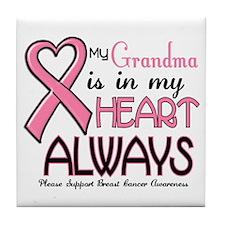 In My Heart 2 (Grandma) PINK Tile Coaster