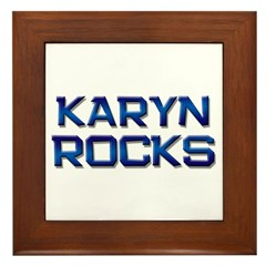 karyn rocks Framed Tile