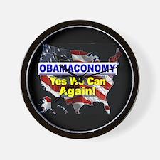 Obamaconomy-blue Wall Clock