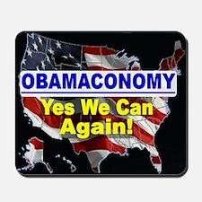 Obamaconomy-blue Mousepad