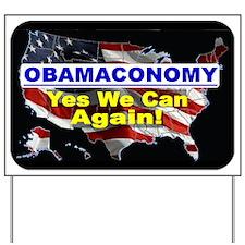 Obamaconomy-blue Yard Sign