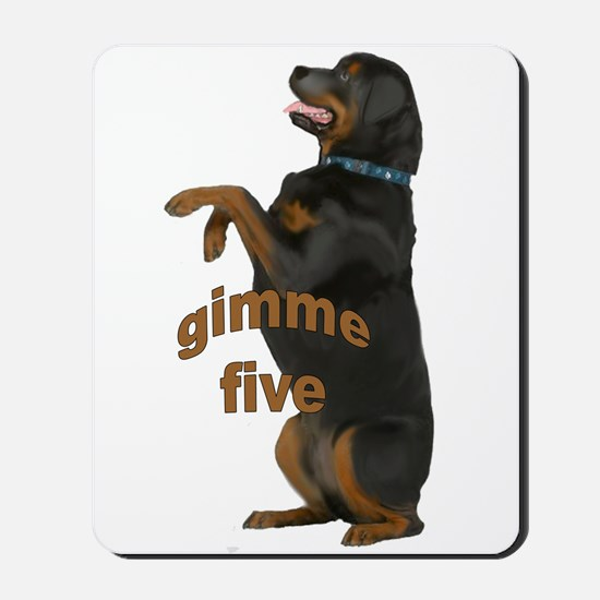rottweiler begging Mousepad