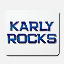 karly rocks Mousepad