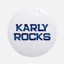 karly rocks Ornament (Round)