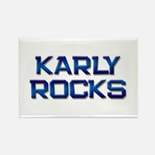 karly rocks Rectangle Magnet