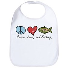 Peace, Love, Fishing Bib