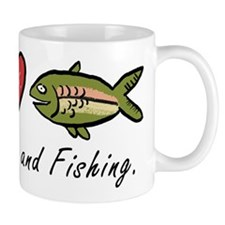 Peace, Love, Fishing Mug